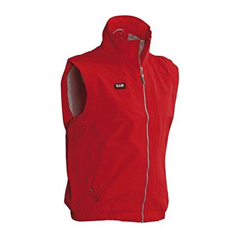 Slam Man Superyacht Collection Men's 120gr Polyester Summer Sailing Vest Col.625 mesh Lined Red Vest 2X-Large