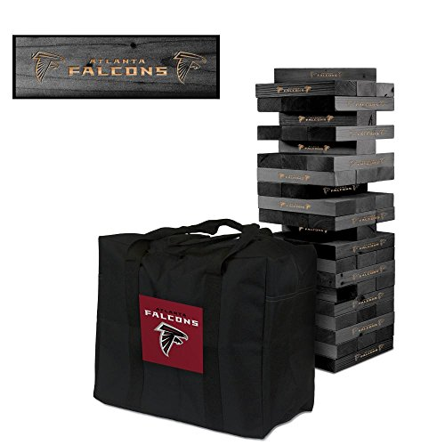 NFL Atlanta Falcons NFL 858024Atlanta Falcons NFL Onyx Stained Giant Wooden Tumble Tower Game, Multicolor, One Size by Victory Tailgate