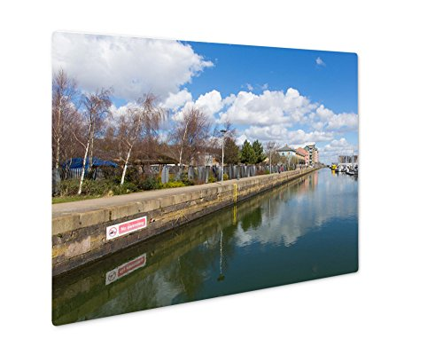 Ashley Giclee Metal Panel Print, Portishead Near Bristol Somerset England UK With Blue Sky On A Spring Day And, 8x10, - Sunset Bristol Times