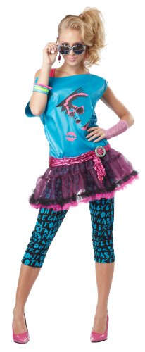 California Costumes Women's Valley Girl Adult, Turquoise/Black, ()