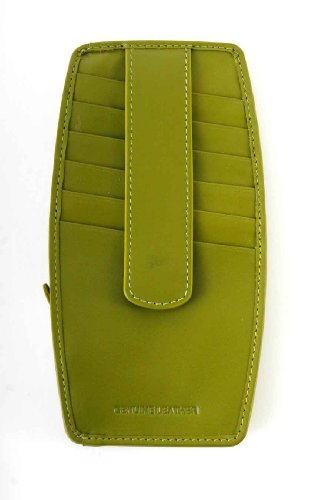 ILI Leather Credit Card Holder - Moss Green