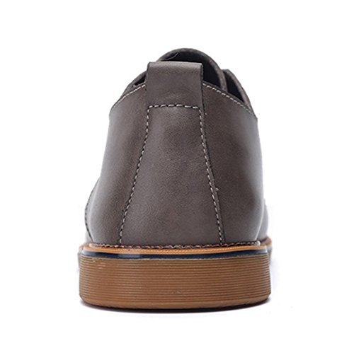 Men's TDA Super Dress Shoes Comfortable Casual slip Fashion Up British Lace Fiber Gtey Leather Non 4ffwdA
