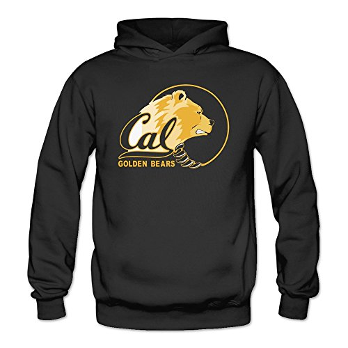 Moniz Women California Golden Bears Power Mascot Logo Hoodies Sweatshirt Black