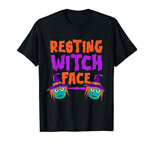 Resting Witch Face Quick Halloween Witch Costume Gag Gift T-Shirt]()