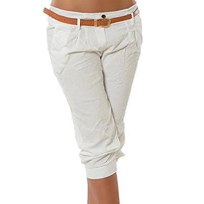 Yying Pantalones Capri para Mujeres 3/4 Harem Pantalones Moda Color SГіlido Casual Shorts Deporte Shorts Tallas Grandes Boyfriend S-5XL: Ropa y accesorios
