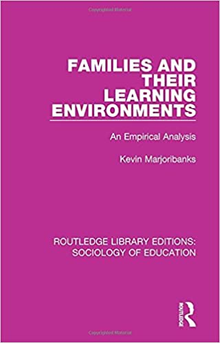 Families and their Learning Environments: An Empirical Analysis Routledge Library Editions: Sociology of Education