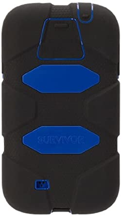 Griffin Survivor Case for Samsung Galaxy S5 - Retail Packaging - Black/Blue