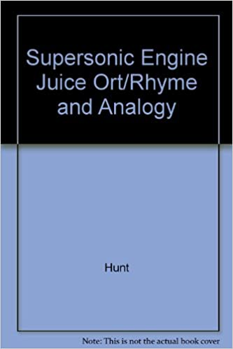 supersonic engine juice ort rhyme and analogy 9780198490258 amazon