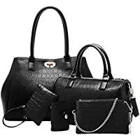 MY2 Multi-Function Five -Pieces Set Tote Bag for Women - Black