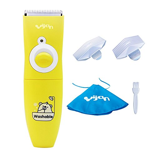 Yijan T610S Waterproof Cordless Kids Children Baby Hair Clippers Trimmers Haircut Kits with AA Battery Version