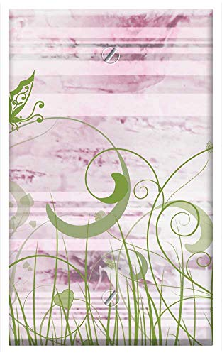 (Single-Gang Blank Wall Plate Cover - Background Scrapbooking Butterfly Paper)