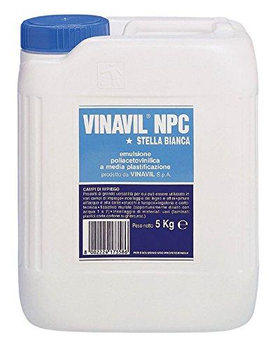 Bostik 3234005 Vinavil NPC Colla, 5 kg, Bianco 10801