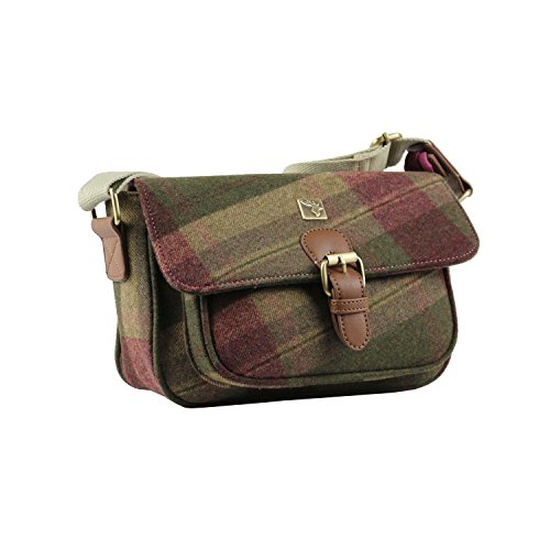 Burgundy Tweed Small amp; Green Satchel pAxnZqaU