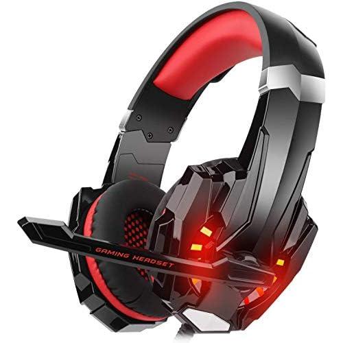 Gaming Headset para PS4 Xbox One PC, diza100 Gaming Auriculares con micrófono, LED Light Bass Surround Carcasa de Aluminio para Ordenador portátil Mac Nintendo Switch Juegos a buen precio