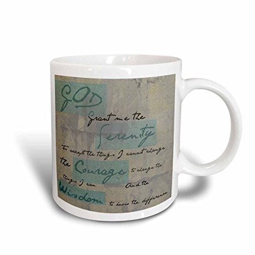 3dRose Serenity Prayer Inspirational Spiritual Ceramic Mug, 15-Ounce
