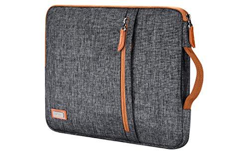 LONMEN 15.6 inch Laptop Sleeve Case Water-Resistant Notebook Handle Bag for Lenovo Flex 4/Yoga 720/Ideapad 330 321S Laptop/ThinkPad P1/HP Envy x360 15/ASUS ROG Zephyrus S/Dell Latitude 3590,Dark Grey