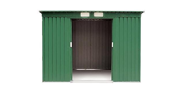 VERDELOOK 621 - 6 Cobertizos, tamaño mediano, de chapa, galvanizado, 194 x 121 x altura 181 cm, verde, Jardín Equipamiento: Amazon.es: Bricolaje y ...