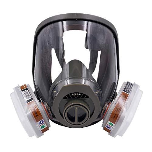 HAOX Gas Mask with Activated Carbon Air Filter, Protect Against Gas,Paint,Dust,Chemicals