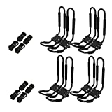 TC-Home 4 Pairs SUV Car Kayak Roof Rack Canoe Car Top Mount Carrier Kayak Holder Universal