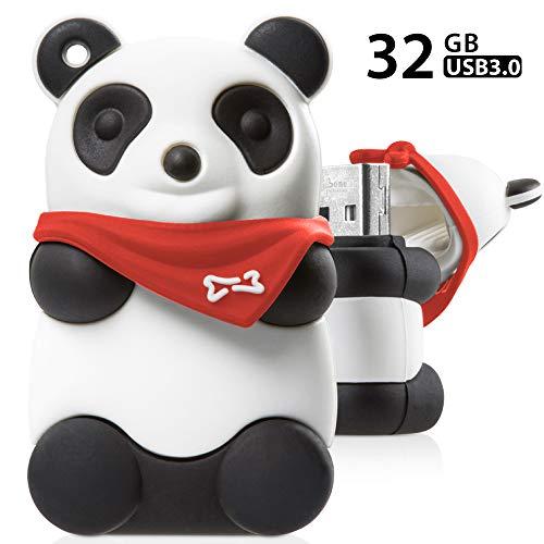 - Bone Collection 32GB USB 3.0 Flash Drive, Novelty Cute Animal Cartoon Enclosure Thumb Drive Jump Drive Pen Drive Pendrive Memory Stick - Panda