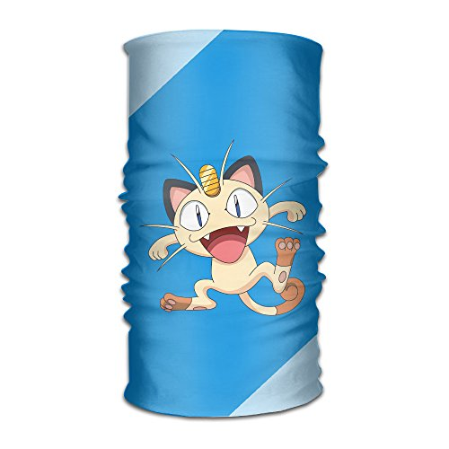 [MoMo Unisex Team Rocket Meowth Head Scarft For Cancer Motorcycle Walking Skiing, Football Outdoor] (Resident Evil 5 Alice Costume)