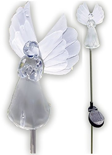 Stake Unit - Solar Wholesale 1033-2 Solar Angel Lights Garden Stakes (Box of 2 Units)