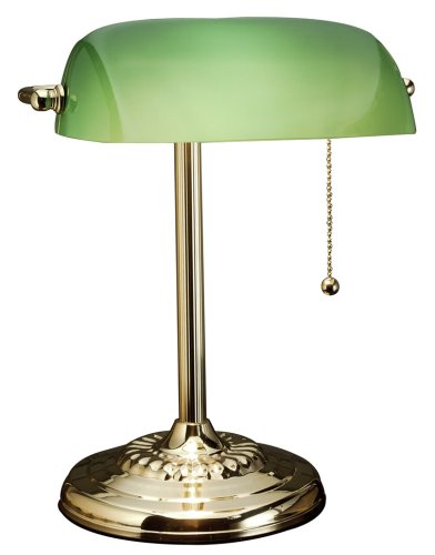 Brass Lamp Bankers Solid (Holmes Brass Banker's Lamp)