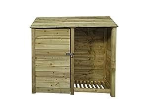 Bahía de doble grande de madera de fresno herramienta STORE–6ft–Luz Verde–hecho a mano al aire libre cobertizo de madera tratada a presión para herramientas y jardín Stuff