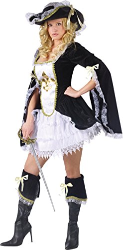 Midnight Musketeer Adult Costume - Small/Medium (3 Musketeers Costumes)