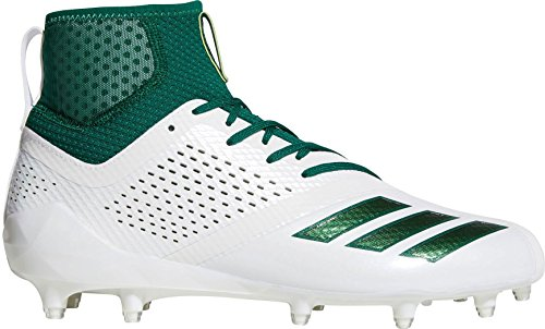 adidas Adizero 5-Star 7.0 SK Cleat - Men's Football 13 White/Dark Green