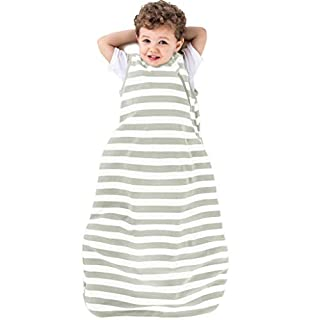 Ecolino Organic Cotton Baby Sleep Bag or Sack - Infant Sleeping Bag 6-18 Mo, Silver
