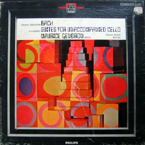 Maurice Gendron Bach:(Complete) Suites for Unaccompanied Cello LP Box - Unaccompanied Cello Vinyl
