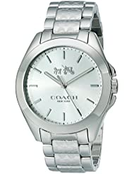 Coach Womens 14502177 Tristen Signature Silver Tone Stainless Watch