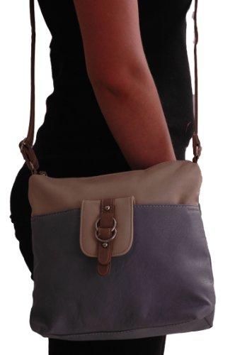Grey Ladies Faux Womens Gillian Eyecatch Shoulder Leather Bag Cross Bodybag YvzUqngx
