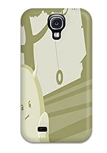 Galaxy S4 Case Cover - Slim Fit Tpu Protector Shock Absorbent Case (blurburger Anime Comics Puzzle Game )