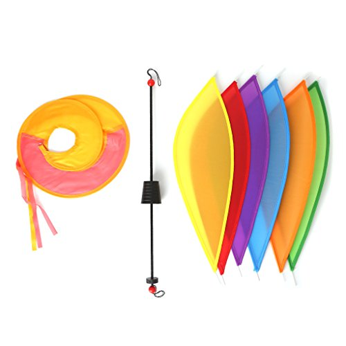 Huhudde Balloon Windmill Toys Children Spiral Garden Ornaments