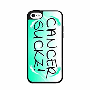 Cancer Sucks TPU RUBBER SILICONE Phone Case Back Cover iPhone 4 4s by icecream design