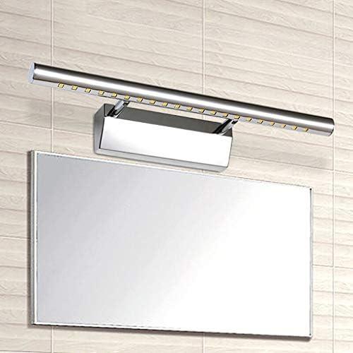 SOARLL- Bathroom Mirror Front Light - Bathroom Nordic Bathroom Makeup Lamp Bathroom Led Mirror Stainless Steel Dressing Lamp [Energy Class A ++] (Edition : White Light)