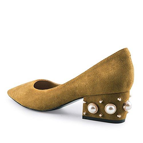 Chaussures Chaussures Shoes Talon Automne Moyen Pointu B Rivet Women's De wTEgqvaT