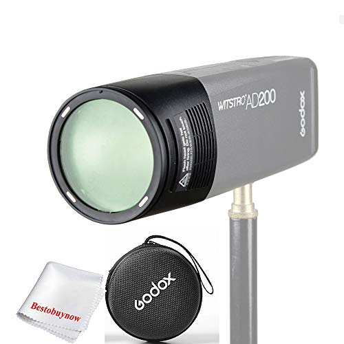 Godox Witstro H200R Round Flash Head for AD200 AD200Pro 200Ws 2.4G TTL Flash Ring Flash Head with Storge Box ()