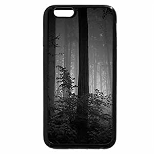 iPhone 6S Case, iPhone 6 Case (Black & White) - Misty Forest