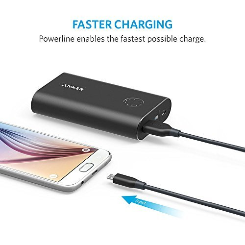 Anker [5-Pack] PowerLine Micro USB - Durable Charging Cable [Assorted Lengths] for Samsung, Nexus, LG, Android Smartphones and More (Black) by Anker (Image #4)