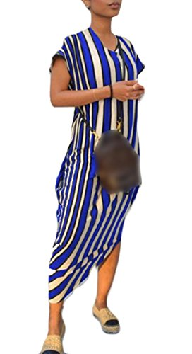 Banda Jaycargogo Donne Irregolare 2 Della Lungo Fit Vestito Bordo Allentato Manicotto qqEwp
