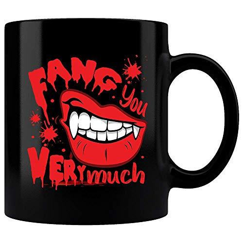 Fang You Very Much Mug, Vampire Mug, Funny Saying Mug, Halloween Mug, Halloween Gift, Mens Gift, Womens Gift, Tea Cup, Coffee -