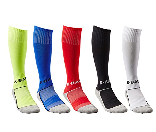 aeb77b13d0 Galleon - Thorn Bird 5PCS Boys And Girls Sport Soccer Compression Socks  Knee High Tube Althletic Football Socks (Shiny Green/Blue/Red/Black/White)