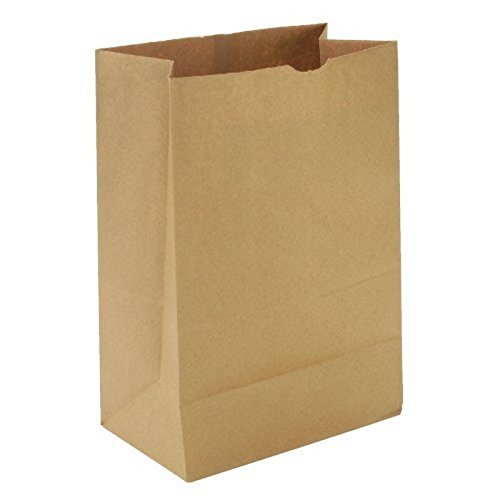 General SK1675 1/6 BBL Paper Grocery Bag, 75lb Kraft, Standard 12 x 7 x 17, (Case of 400 bags) -