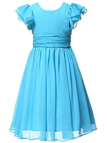 Happy Rose Flower Girl's Dress Prom Party Dresses Bridesmaid Dress Aqua Blue 12