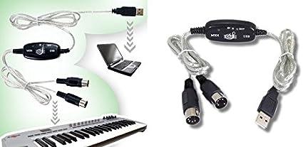 Câble USB PC MIDI pour Clavier Electronique Instrument