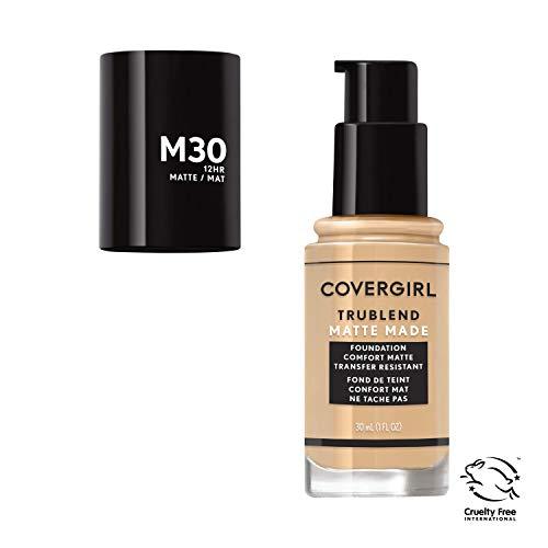 Covergirl Trublend Matte Made Liquid Foundation, M30 Honeyed Bloom, 1 Fl Oz