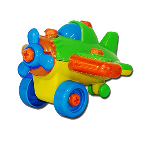- Kasenxet Baby Toy Car Disassembly Colorful Airplane Design Educational Toys for Children Kids